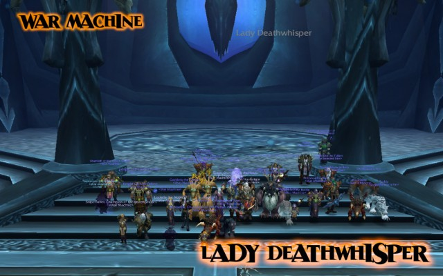 Lady Deathwhisper down in ICC 25