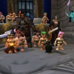 Naked Gnome Race - Hanging with the King